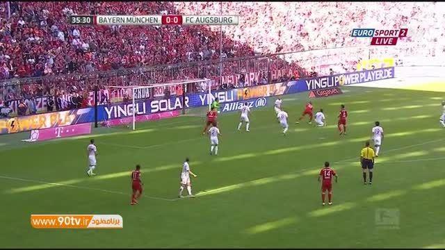 خلاصه بازی: بایرن مونیخ ۲-۱ آگزبورگ