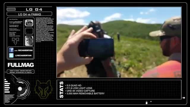 شلیک گلوله به قلب جی 4 ال جی در تصاویر آهسته ویدئویی
