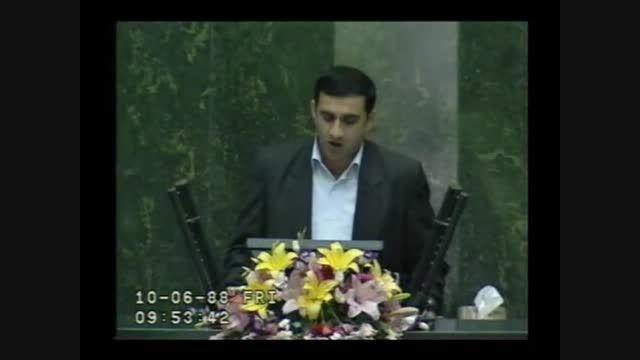 دفاع از وزیر تعاون روز رای اعتماد | 10-06-88