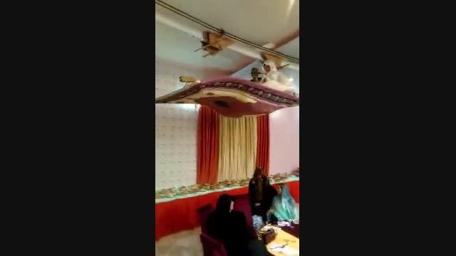 قالیچه پرنده در عروسی ایرانی