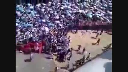 ویدیوی چند لحظه قبل از مرگ هزاران حجاج در مکه-صحرای منا