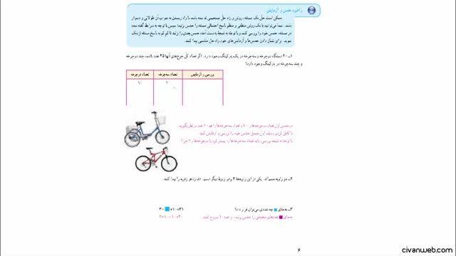 حل تمرین 1 صفحه 6 کتاب ریاضی پایه هفتم