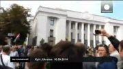 نماینده سابق پارلمان اوکراین در زباله دانی