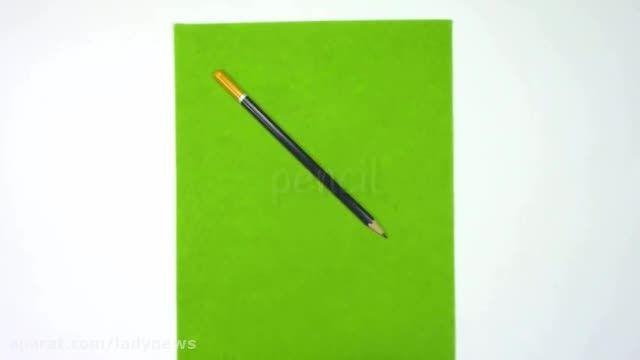 ساخت کیف مداد رنگی با نمد
