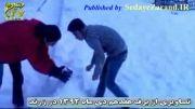 کلیپ برف و برف بازی در زرند