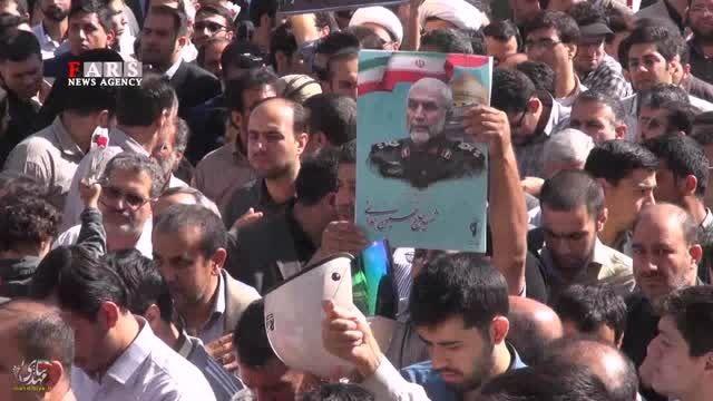 تشییع پیکر باشکوه، سردار شهید همدانی