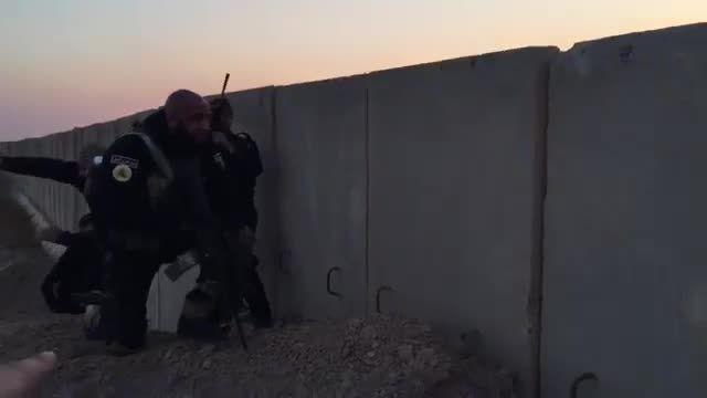 ابوعزرائیل در خط مقدم نبرد با داعش عراق