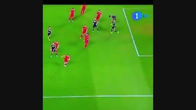 گل ماتا به مقدونیه (گل اول بازی اسپانیا - مقدونیه)