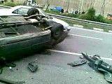 تصادف و نجات راننده