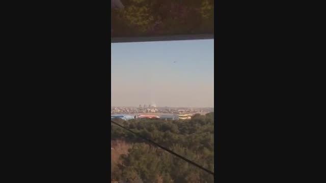 لحظه ی سقوط یک فروند هواپیمای آموزشیTB21در فرودگاه پیام