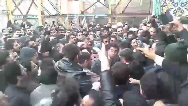 مراسم ترحیم مادر دکتر احمدی نژاد در قم 3