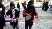 هنرنمایی دختران نوجوان ایران در خیابان