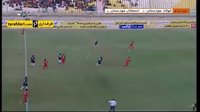 خلاصه بازی فولاد خوزستان 0-2 استقلال خوزستان