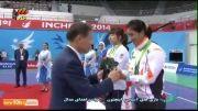 ساندا: مراسم اهدای مدال نقره به الهه منصوریان