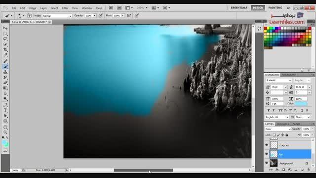 فیلم آموزش رنگی کردن تصاویر سیاه سفید در فتوشاپ