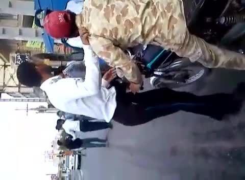 موتورگیری توسط مامورین راهنمایی رانندگی در شهر میناب