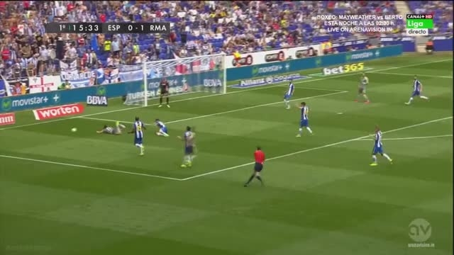 رئال مادرید 6 - 0 اسپانیول ( 5 گل از رونالدو ) هفته سوم