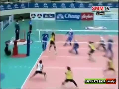 برهانی پشت خط زن تیم ملی والیبال دختران ایران