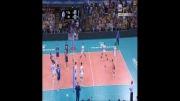 خلاصه ست اول والیبال ایران و ایتالیا (بازی رفت - لیگ جهانی)