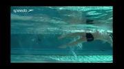 آموزش تکنیک پا در شنای کرال پشت