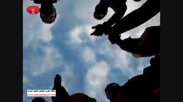 تشویق ویژه ی حمله حمله حمله نساجی قهرمان در تهران