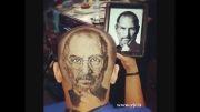 عجیب ترین نوع اصلاح موی سر...!