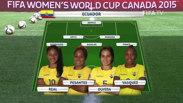 ترکیب : اکوادور VS ژاپن (جام جهانی زنان 2015 کانادا)