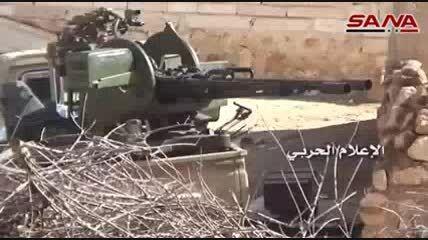 حملات سنگین توپخانه ای ارتش سوریه ضد تکفیری ها