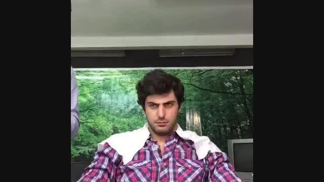 سید علی ضیاء قبل از برنامه امشب در اتاق گریم