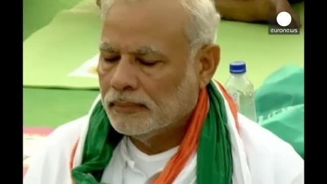 نخست وزیر هند در مراسم روز جهانی یوگا