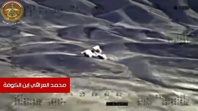 شلیک دقیق جنگنده عراقی میان تجمع تروریست های داعش