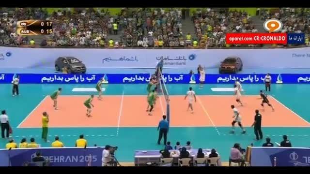 والیبال جام ملت های آسیا : ایران 3 - 1 استرالیا