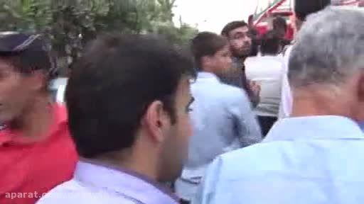 حضور شهید ابولقاسمی در مراسم تشییع شهدای گمنام سال 91