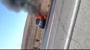 18+ زنده زنده سوختن پنج نفر در ماشین ( جاده اهر - تبریز