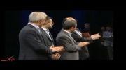 سخنرانی اکبر عبدی در حضور احمدی نژاد