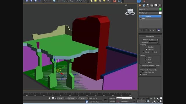 آموزش 3DMAX فارسی ۲۴ طراحی یک غرفه ۵ پایه نرده ها