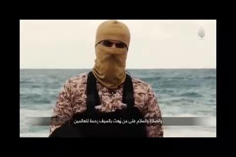 سربریدن 21 مصری به دست داعش + فیلم