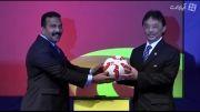 رونمایی از توپ رسمی بازی های آسیایی جام ملت ها 2015