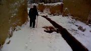 زمستانی برفی در کوچه باغ (لاو) دانسفهان.