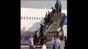 آتش زیر چرخ های هواپیمای روسی