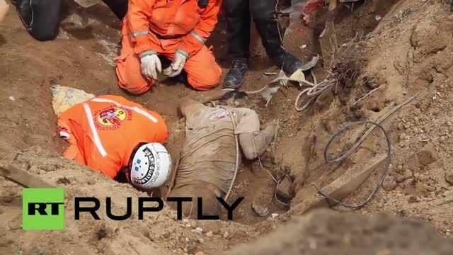 زلزله ویرانگر در گواتمالا 56 کشته و صدها گم شده بر جای