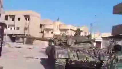 هدف قرار گرفتن تانک شورشیان سوری