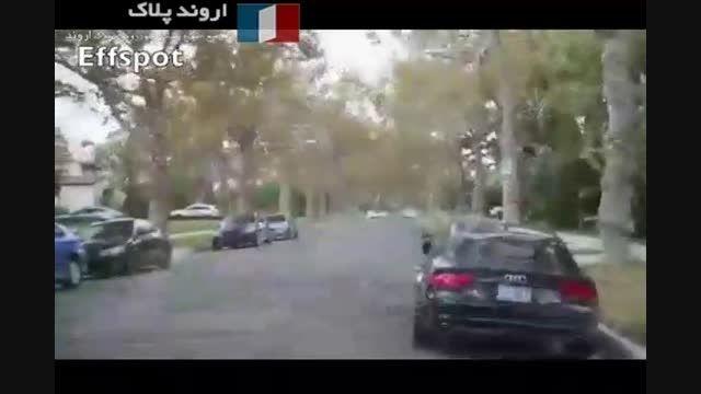 ویراژ شیخ عرب در آمریکا با فراری زرد رنگ