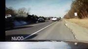 تصادف وحشتناک در مقابل چشمان پلیس