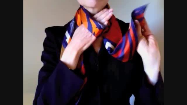 روشهایی برای بستن شال و روسری