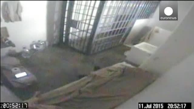 تصاویر ویدئویی ال چاپو در لحظه فرار از زندان