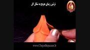 تزئین زیبای هویج به شکل گل