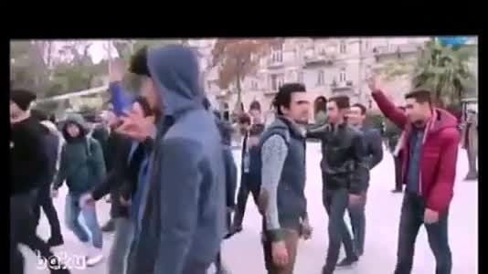 تظاهرات مردم باکو علیه توهین به ترکها در ایران «فیتیله»