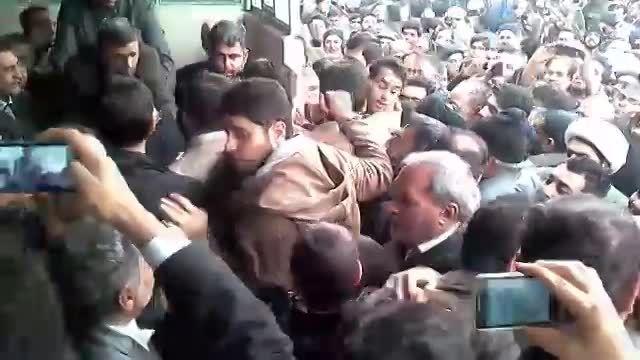 مراسم ترحیم مادر دکتر احمدی نژاد در قم 2