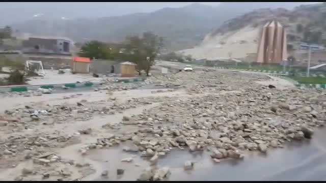 بارش بارش و اختلال تردد در شهر ایلام